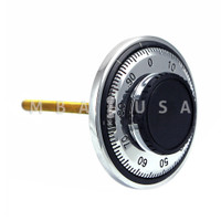 DIAL & RING, FRONT READING, LOW PROFILE, SATIN CHROME