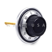 DIAL & RING, FRONT READING, RUBBER KNOB, SATIN CHROME