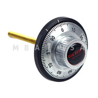 DIAL & RING, FRONT READING, SMALL KNOB, SATIN CHROME