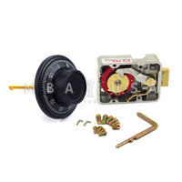 """3-WHEEL LOCK, DIAL & RING, FRONT READING, BLACK & WHITE, 3.5"""" DOOR THICKNESS"""