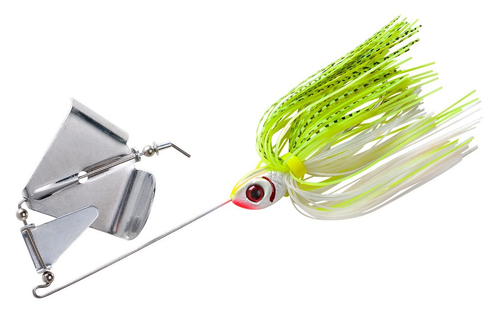 Booyah buzz 3 8oz white chartreuse shad vimage outdoors for White bass fishing lures