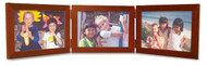 Triple Hinge Horizontal (Landscape) Picture Frame - Fruitwood Finish