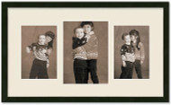 SlimLine Collage Portrait Wall Wood Frame with Black Finish, 3-Multi size openings