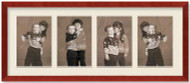 SlimLine Collage Portrait Wall Wood Frame with Cherry Finish, 4-openings