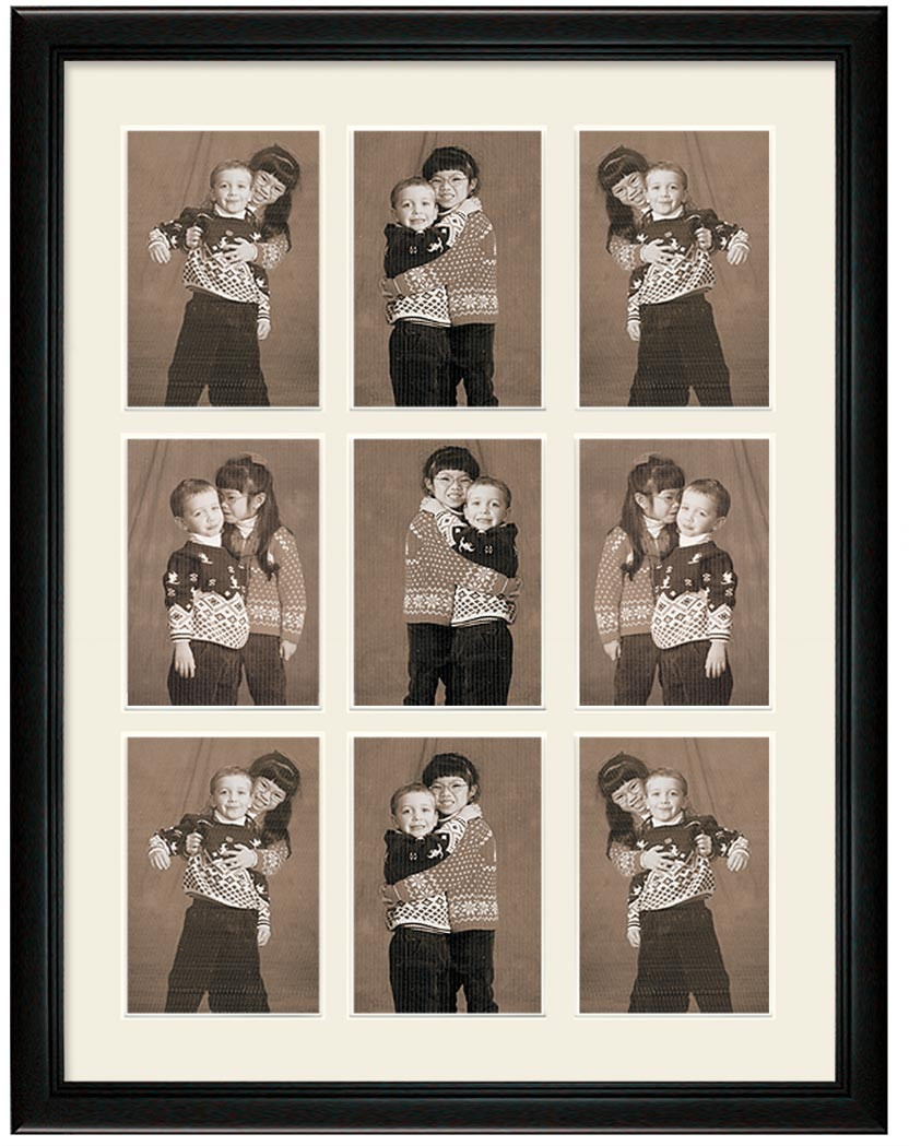 Deluxe Black Portrait Collage Wall Frame, 9- Openings - Picture This ...