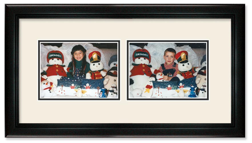 Deluxe Black Landscape Collage Wall Frame Double Mat 2