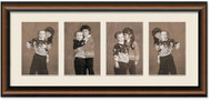 Two Toned Walnut finish Collage frame, 4-openings with off white mat