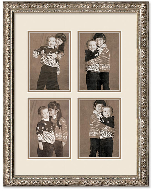 Imperial Silver Collage Wall Frame Double Mat 4