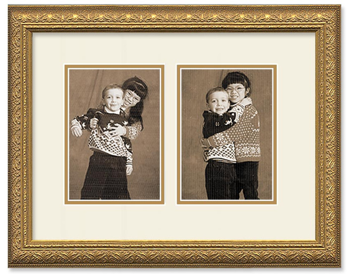 Imperial Gold Portrait Collage Wall Frame Double Mat 2