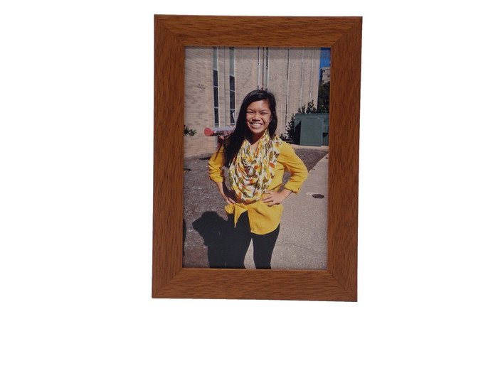 Fruitwood finish tabletop picture frame