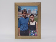 Mini Antiqued Silver Wood Tabletop Frame