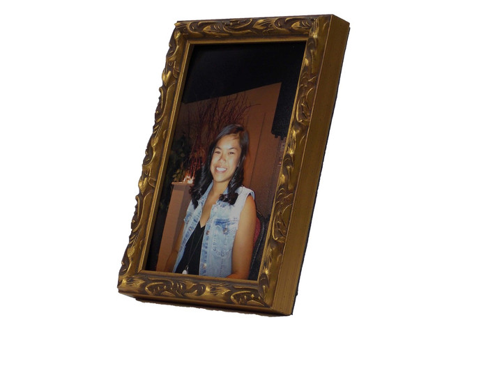 Antique Gold Swirl Tabletop Frame
