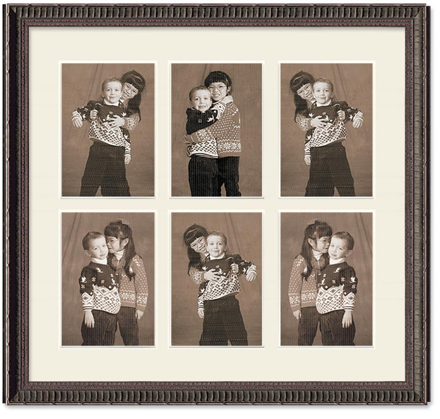Ornate Black Collage Wall Frame 6 Openings Picture