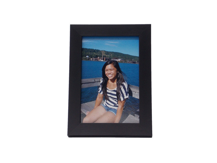 4x6 Black Wood Tabletop Picture Frame