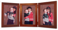 3.5x5 Vertical Triple Hinge Cherry Finish Picture Frame