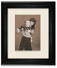 6x8 Deluxe Black Wall Frame - Single Off White Mat