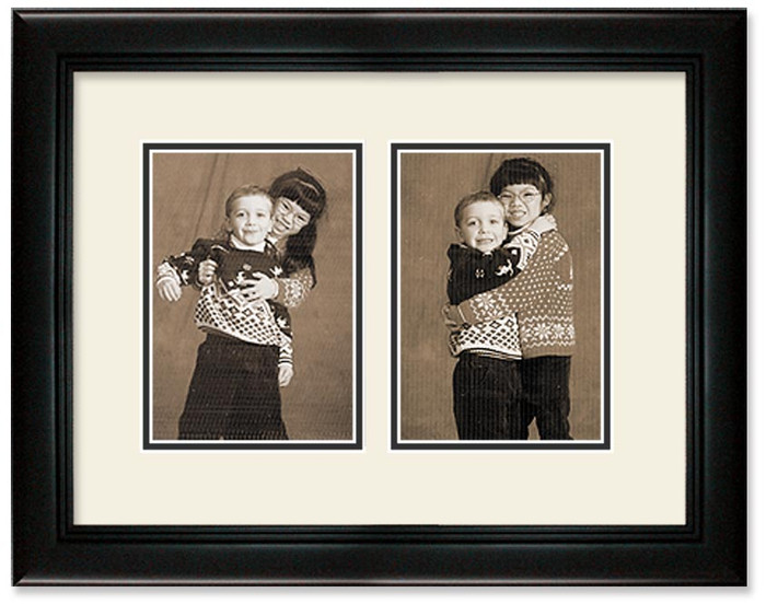 Deluxe Black Portrait Collage Wall Frame Double Mat 2