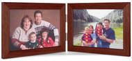 Double Hinge Horizontal (Landscape) Picture Frame - Walnut Finish