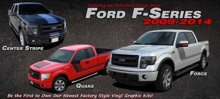 2009 2010 2011 2012 2013 2014 2015 Ford F-Series F-150 Vinyl Graphic Decals and Stripe Kits