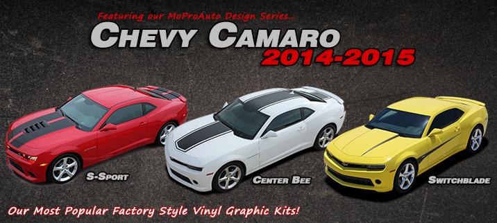 2014-2014 Chevy Camaro Vinyl Graphics Decal Stripe Kits
