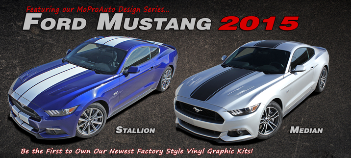 2015 Ford Mustang Vinyl Graphic Decals and Stripe Kits