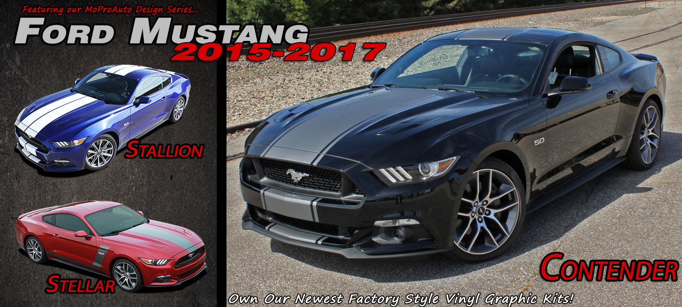 Ford Mustang Stripes Decals Vinyl Graphics