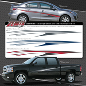 ZENITH : Automotive Vinyl Graphics Shown on Chevy Silverado (M-08855)
