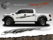 Wild Oak Wild Wood Camouflage : HARVESTER Body Side Vinyl Graphic 9 inches x 96 inches