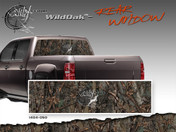 "Wild Oak Wild Wood Camouflage : Rear Window ""See Through"" Film Graphic Kit 24 inches x 65 inches"