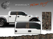 Wild Oak Wild Wood Camouflage : Pillar Post Decal Vinyl Graphic 22 inches x 12 inches