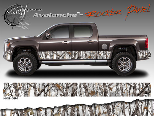Wild Wood Camouflage Lower Rocker Panel Graphics Kit 12 Inch X 09 Foot Per Side Moproauto