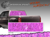 "Wild Oak Pink Wild Wood Camouflage : Rear Window ""See Through"" Film Graphic Kit 24 inches x 65 inches"