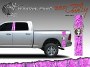 Wild Oak Pink Wild Wood Camouflage : Bed Side Rally with Deer Skull 12 inches x 42 inches