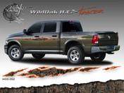 Wild Oak Hunter Edition Wild Wood Camouflage : TRACER Body Side Vinyl Graphic 9 inches x 96 inches