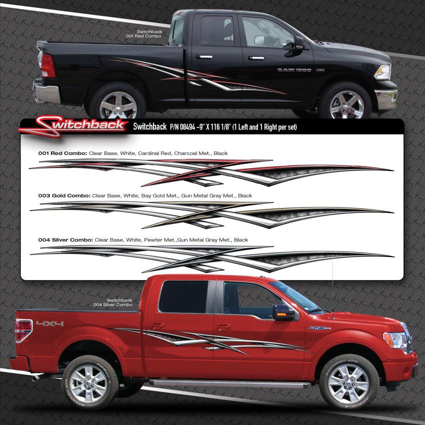 Switchback Automotive Vinyl Graphics Shown On Dodge Ram