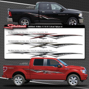 SWITCHBACK : Automotive Vinyl Graphics Shown on Dodge Ram (M-08494)