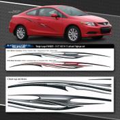 SURGE : Automotive Vinyl Graphics Shown on Honda Civic (M-09251)