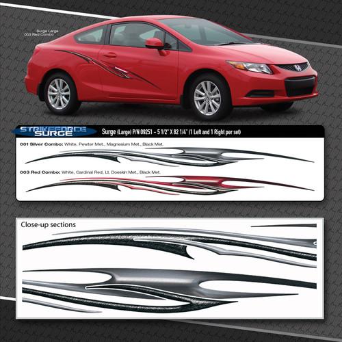 Surge Automotive Vinyl Graphics Shown On Honda Civic