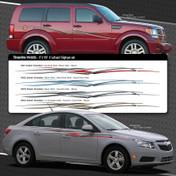 STREAMLINE : Automotive Vinyl Graphics Shown on Dodge Nitro and Dodge Dakota (M-08205)