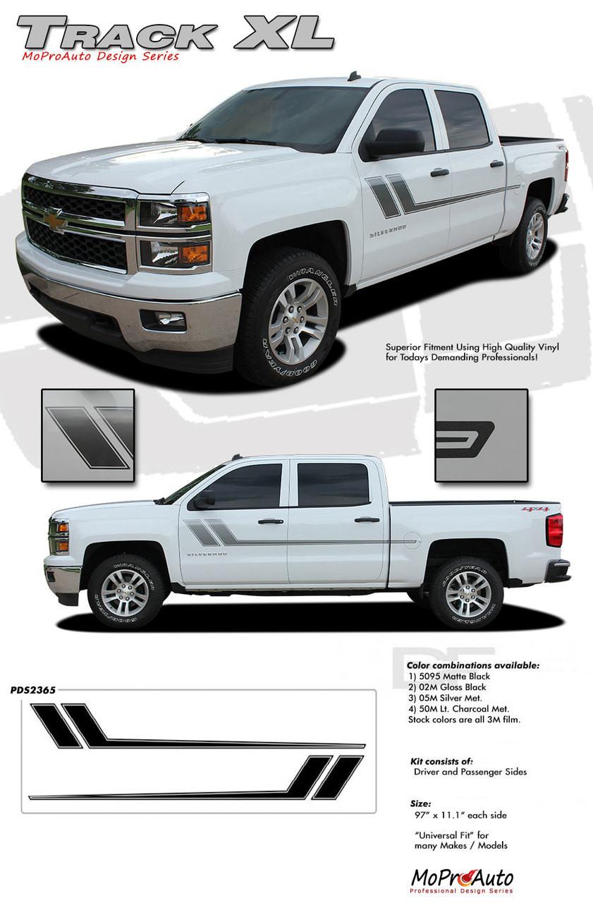 TRACK XL Chevy Silverado GMC Sierra Side Door Hockey - Truck decals and graphics