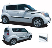 SOUL R : Vinyl Graphics Kit Engineered to fit the 2010 2011 2012 2013 KIA Soul - Vinyl Graphics Kit, specially engineered to fit the 2010 - 2013 KIA Soul! Fade style body line application that sets your Kia Soul apart!