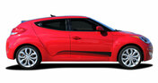 STRIKE : Vinyl Graphics Kit Engineered to fit the 2011 2012 2013 2014 2015 2016 2017 2018 Hyundai Veloster - Vinyl Graphics Kit, specially engineered to fit Hyundai Veloster! Fantastic body line application that will set your Hyundai Veloster apart from the rest!