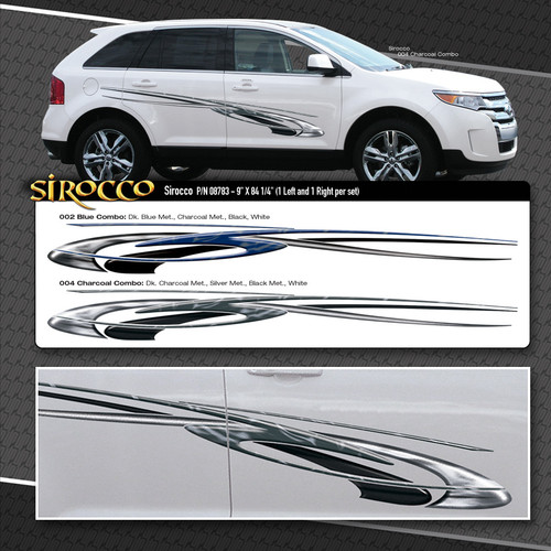 Sirocco Automotive Vinyl Graphics Shown On Ford Escape
