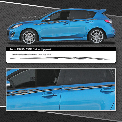 Shocker Automotive Vinyl Graphics Shown On Compact