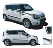 SOUL MATE : Vinyl Graphics Kit Engineered to fit the 2010 2011 2012 2013 Kia Soul - Vinyl Graphics Kit, specially engineered to fit the 2010 - 2013 KIA Soul! Fantastic body line application that will set your Kia Soul apart!