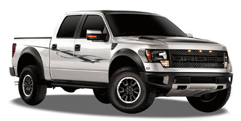 SAVAGE Automotive Vinyl Graphics And Decals Kit Shown On FORD - Ford raptor decals