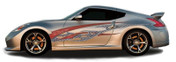 ROCK STAR : Automotive Vinyl Graphics and Decals Kit - Shown on TWO DOOR SPORTS CAR (M-1396)