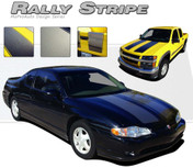 RALLY STRIPE : Universal Style Hood Racing Stripe Kit  Vinyl Graphics Racing Stripes Package For Cars and Trucks! Can fit a wide variety of vehicles, and comes in two popular shades of grey!