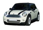 S-TYPE HOOD : Mini Cooper Vinyl Graphics Kit - Mini Cooper S-TYPE HOOD Vinyl Graphics, Stripes and Decal Kit! Hood Decals Included. Pre-Designed pieces ready to install, using only Premium Cast 3M, Avery, or Ritrama Vinyl!