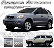 ROCKER STROBES : Universal Style Vinyl Rocker Panel Graphics Kit - Universal Style Rocker Panel Vinyl Graphics Package w/ Strobe Effects! Pre-cut pieces ready to install. A fantastic addition to your vehicle, using only Premium Cast 3M, Avery, or Ritrama Vinyl!
